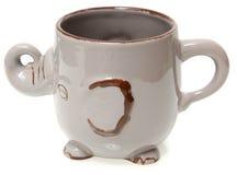Elephant Coffee Mug Over White Royalty Free Stock Images