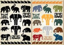 Elephant collection Royalty Free Stock Images