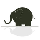 Elephant color vector Royalty Free Stock Image