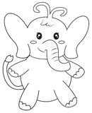Elephant coloring page. Useful as coloring book for kids Stock Photos