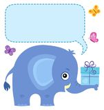 Elephant with copyspace theme 4 Stock Images