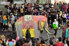 Elephant costume, Yogyakarta city festival parade Stock Image