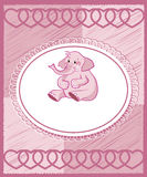 Elephant - cute baby shower design Stock Photo