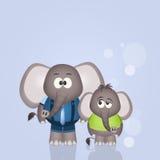 Elephant dad Royalty Free Stock Image