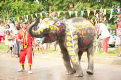 Elephant dance. Stock Images