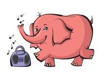Elephant dancing Stock Photography