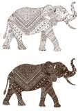 Elephant decorated mehndi Royalty Free Stock Photography
