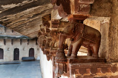 Elephant detail decorative of Jahangir Mahal or Orchha Palace Stock Photo