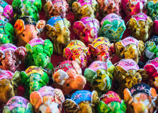 Elephant doll. Bright color toys Stock Photos