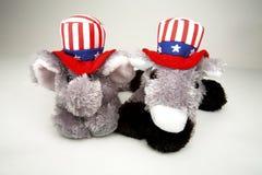 Elephant and Donkey Stock Photo