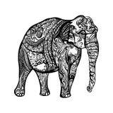 Elephant Doodle Royalty Free Stock Photography