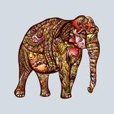Elephant Doodle Royalty Free Stock Photos