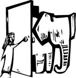 Elephant Door Royalty Free Stock Image