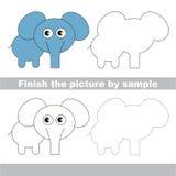 Elephant. Drawing worksheet. Stock Images
