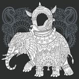 Elephant in black and white style Stock Images
