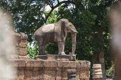 Elephant at East Mebon temple, Angkor Wat Royalty Free Stock Photography