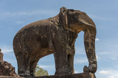 Elephant at East Mebon temple, Angkor Wat Royalty Free Stock Photo