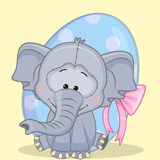 Elephant with egg Royalty Free Stock Images