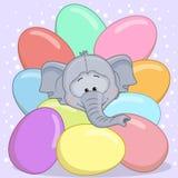 Elephant with eggs Royalty Free Stock Photos