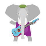 Elephant electric guitar Royalty Free Stock Image