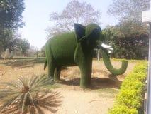 Elephant. Made by green tree Royalty Free Stock Photo