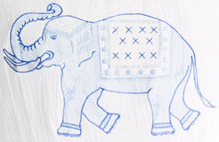 Elephant embroidery Royalty Free Stock Photography