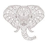 Elephant. Ethnic patterned vector illustration Stock Photo