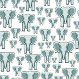 Elephant face seamless pattern Stock Photo