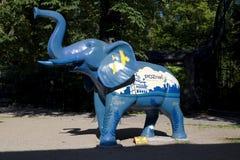 Elephant figure made of plastic. Royalty Free Stock Image