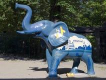 Elephant figure made of plastic. Stock Image