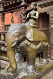 Elephant figures in the beautiful golden temple in patan, nepal Stock Image