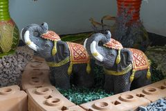 Elephant figures Royalty Free Stock Photos