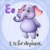 Elephant. Flashcard letter E is for elephant Stock Photo
