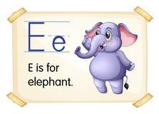 Elephant flashcard Royalty Free Stock Photo