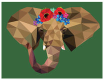 Elephant floral crown Royalty Free Stock Photo