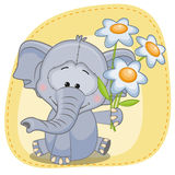 Elephant with flowers Royalty Free Stock Photos