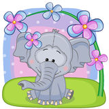 Elephant with flowers Royalty Free Stock Images