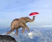 Elephant Fly, Business, Sales, Marketing Illustration royalty free illustration