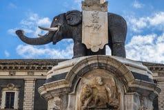 Elephant Fountain in Catania stock image