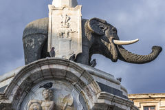 Elephant Fountain in Catania stock images