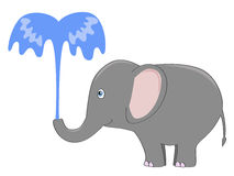 Elephant fountain Stock Photos