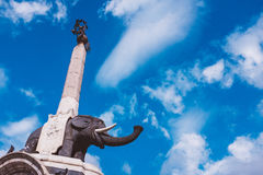 The Elephant fountain is the symbol of Catania in Sicily. Italy Stock Images
