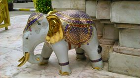 An elephant with full decoration Stock Photography