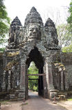 Elephant gate entrance angkor wat cambodia Stock Photos
