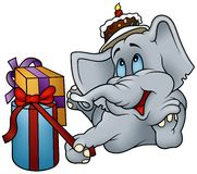Elephant and Gifts Royalty Free Stock Photography