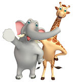 Elephant and Giraffe collection Royalty Free Stock Photos