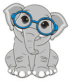 Elephant in glasses Royalty Free Stock Images