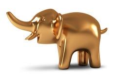 Elephant. Golden statuette Royalty Free Stock Photo