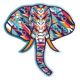 Elephant graffiti vector. For wallpaper wall Royalty Free Stock Photography