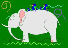 Elephant on the green background. Stock Photography
